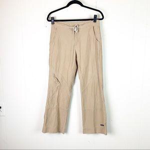 Athleta cropped khaki pants size petite small